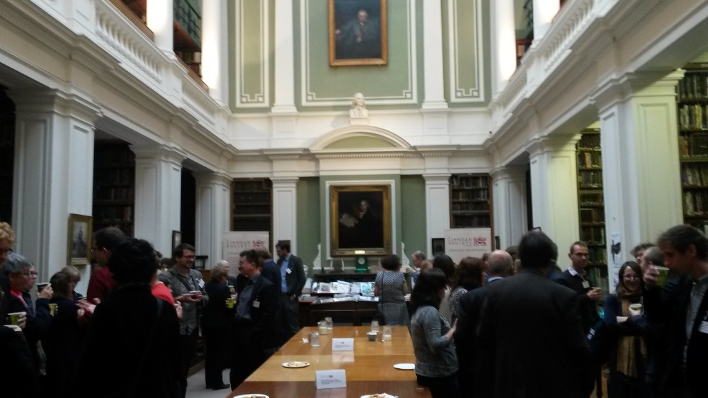 Networking in the Linnean Society Library [Image by Louise Seaward]