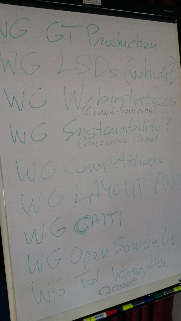 Discussion topics at one of the READ project meetings [Image by Louise Seaward]