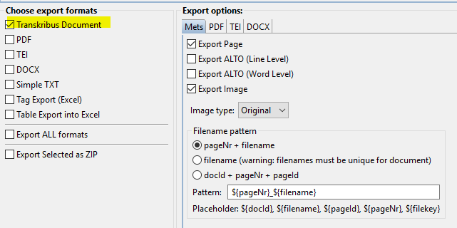 How To Export Documents from Transkribus - READ-COOP